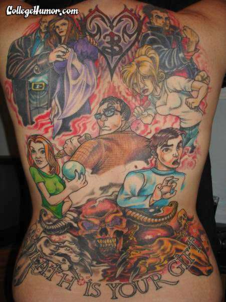 TV Tribute Tattoos - 'Buffy the Vampire Slayer' Body Ink