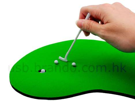 Miniature USB Golf Set