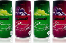 Canned Wine Cross-Branding - Monde Vineyard Vino on Japan Rail East
