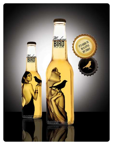 Flapper Girl Inspired Beer Bottles