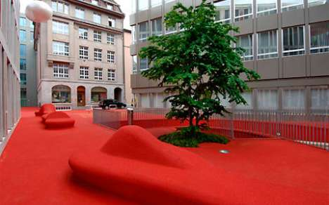 Permanent Outdoor Red Carpets - Switzerland's City Lounge