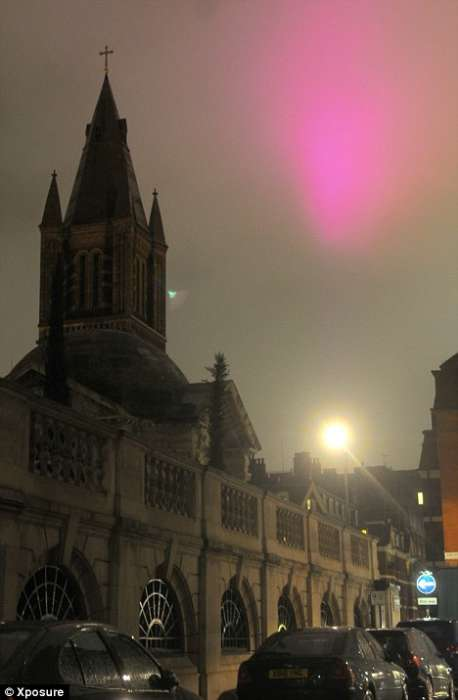 Unexpected Aerial Lights - Mysterious Pink Spot Looms Over London