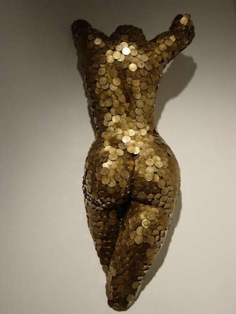 Sculpting Female Curves With Coins - Niso Maman's Body of Work