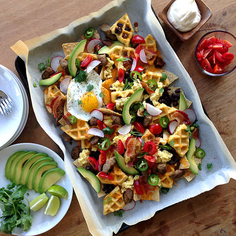 Breakfast Waffle Nachos - The Delicious Life's Breakfast Nachos Recipe Makes a Morning Feast