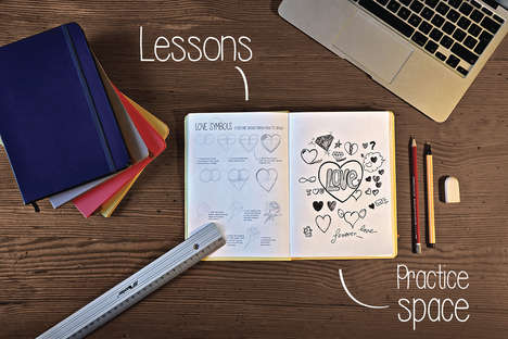 Educational Sketch Books - Drawlie is a Classic Sketchbook That Includes Lessons to Improve Skills