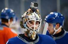 Hockey Player-Mounted Cameras - The New GoPro Sport Brings the Viewer Closer to the Game