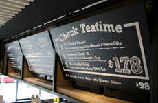 Customizable Chalkboard Menus - Check Cafe's Menu Board Design is Inspired by Scholastic Decor