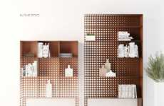 Gradient Perforated Shelving