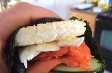 Salmon Sushi Sliders - The Vulgar Chef's Sushi Themed Sandwich is Inspired by the Philadelphia Roll