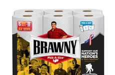 Heroic Paper Towel Packaging - Brawny Joins the Wounded Warriors Project with Special Packaging