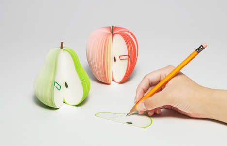 Fruit-Shaped Stationary Sets - The Kudamemo Fruit Notepad is Inspired by Organic Food Items