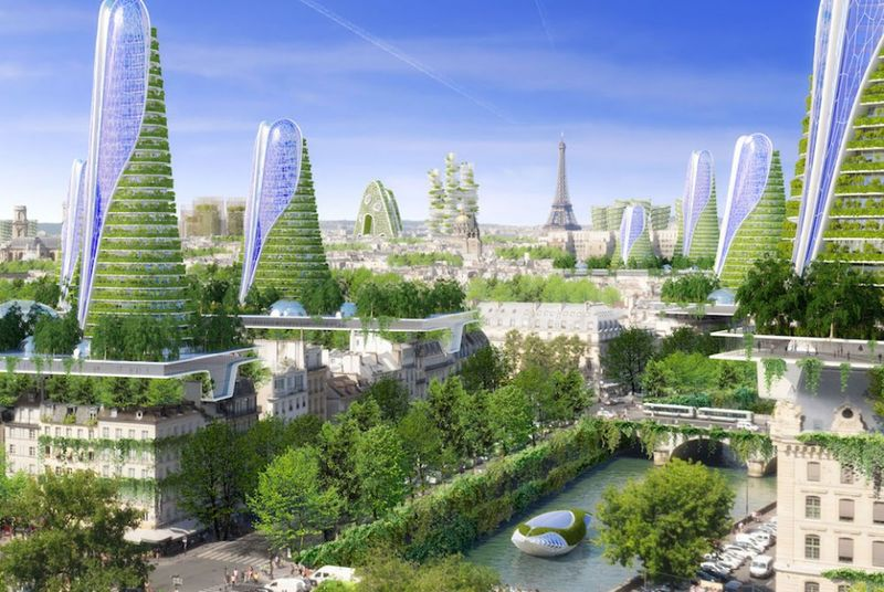 Futuristic Ecological City Blueprints