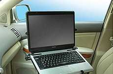 In-Vehicle Laptop Mounts - The Universal Vehicle Laptop Mount Allows Users to Compute on the Go