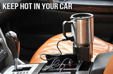 In-Car Beverage Heaters - This Dual Heated Travel Mug Can Be Used on the Go and in Your Car