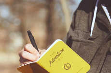 Travel-Documenting Diaries - This Adventure Log Book Helps Backpackers and Tourists Record Memories