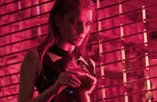 Rose-Hued Nightlife Photography