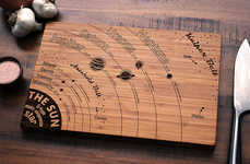 Astronomic Cutting Boards - This Solar System Chopping Board Teaches You Science While You Slice