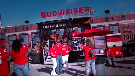 Mobile Brewery Tours - The Budweiser Brewmaster Tour Brings the Commercial Facility to Customers
