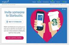 Coffee Date Events - Match.com and Starbucks Couple Up for a Romantic Matchmaking Event