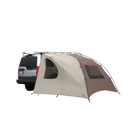 Roof Rack Camping Shelters - This Very Portable Carport Tent Provides Cover During Road Trips