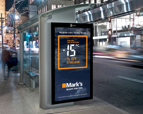 Climatic Sale Ads - Mark's Interactive Advertisements Announce Better Sales with Colder Weather