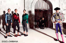 Opulent Matador Ads - The Latest Dolce and Gabbana Menswear Campaign is Cultural