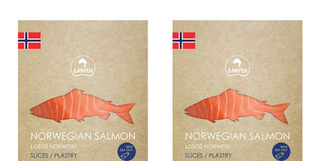 Raw Salmon Branding - Norwegian Fish Packaging is as Pure and Untreated as Its Contents