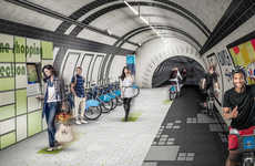 Subway Bicycle Lanes - The London Underline Would Reroute Pedestrians to Subterranean Passages