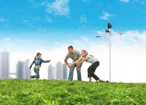 Green Streetlamp Designs