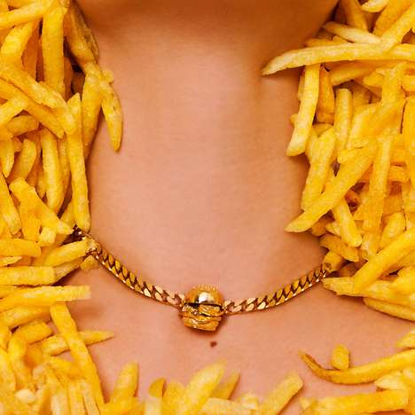 Opulent Fast Food Accessories - This Burger Necklace by Glenda Lopez is Pop Art Themed