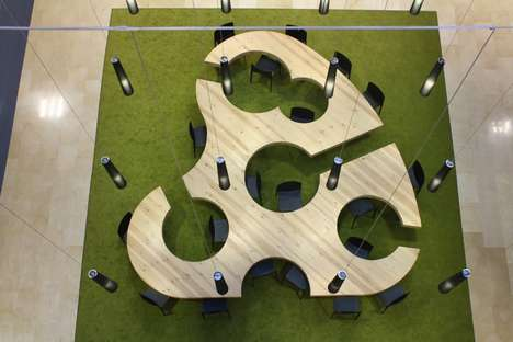 Interaction-Increasing Tables - Architects Design University Furniture Inspired by an Artist Palette