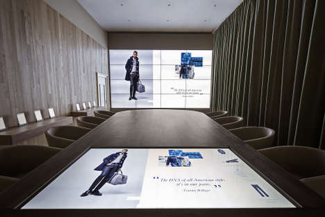 Digital Retail Showrooms - Tommy Hilfiger's High Tech Retail Concept Gets Introduced in Amsterdam