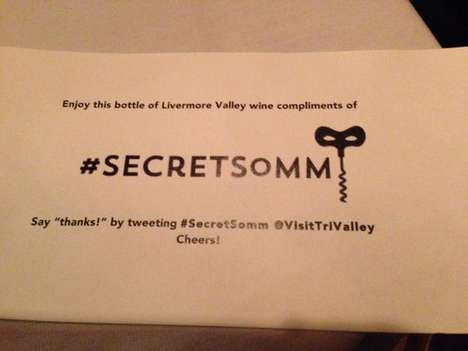 Mysterious Wine Giveaways - Twitter's Secret Somm CA Anonymously Gifts Wine to Diners