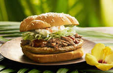 Tropical Hawaiian Burgers - McDonald's Menu in Japan Now Includes Hawaiian Burgers