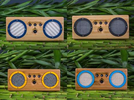 Retro-Modern Bamboo Speakers