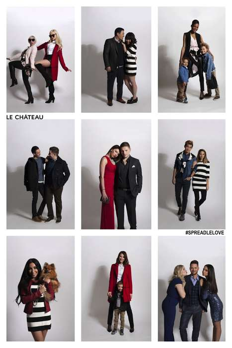 Love-Spreading Fashion Campaigns - The Le Chateau Ads Feature Canadian Fashion Influencers