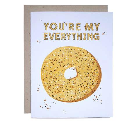 Comedic Bagel Valentine Greetings