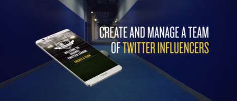 Social Fantasy Leagues - Huawei's Twitter Fantasy League Lets Users Manage Teams of Celebs