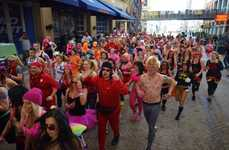 Livestreamed Valentine's Marathons - The Cupid's Undie Run Will Be Streamed with the Hang w/ App