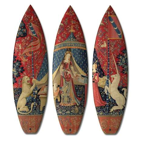 Artistic Surf Equipment - The Boom-Art Renaissance Surfboard Collection is for Cultured Surfers