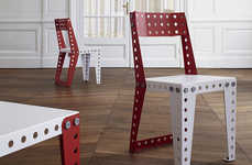 Colorful Toy Decor - The Meccano Home Furniture Line is for the Young at Heart