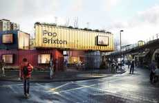 Shipping Container Campuses - Pop Brixton Aims to Bring A Sense of Community to the District