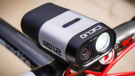 Camera-Embedded Bike Lights - The Fly12 Bicycle Headlight Includes an HD Camera