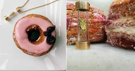 Cronut Capsule Jewelry - The Romantic Limited Edition Cronut Necklace Contains Bronze-Cast Flakes