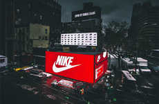 Giant Shoebox Installations - Nike Dropped a Gigantic Shoebox on a New York City Street Corner