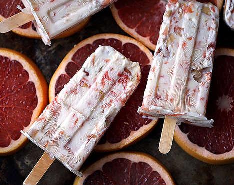 Dairy-Free Grapefruit Parfait Popsicles