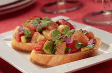 Citrusy Avocado Bruschetta - This Refreshing Bruschetta Recipe Also Incorporates Grapefruit