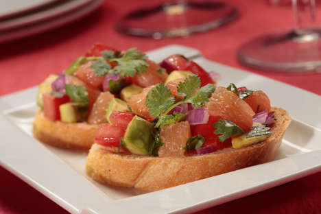 Citrusy Avocado Bruschetta