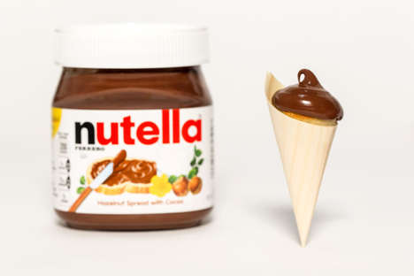 Conical Hazelnut Pancakes - Dominique Ansel Creates a Special Nutella Pancake Cone