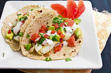 Grapefruit-Topped Tacos - This Recipe for Fish Tacos and Salsa Includes Grapefruit and Avocado